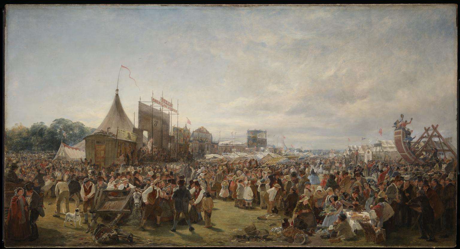 Donnybrook Fair 1859 by Erskine Nicol 1825-1904